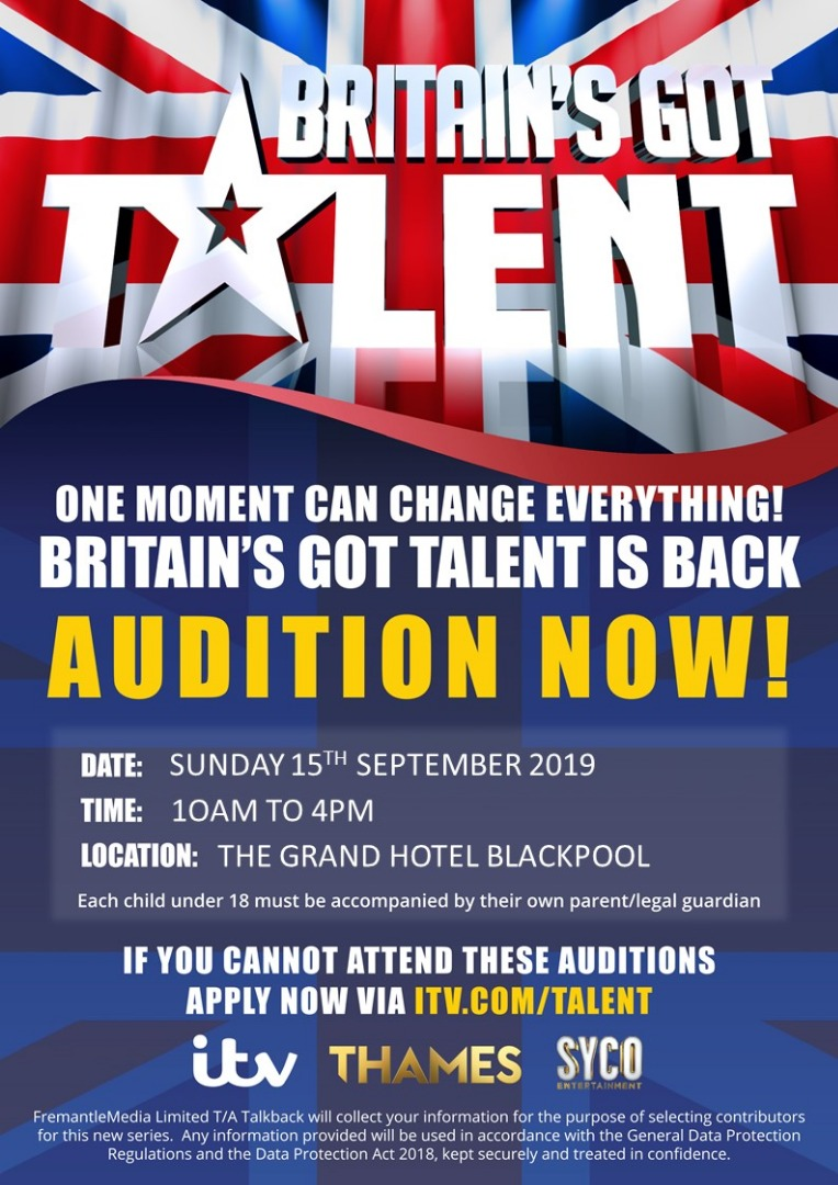 BRITAIN'S GOT TALENT IS BACK AS AUDITIONS HEAD TO YOU FOR SERIES 14
