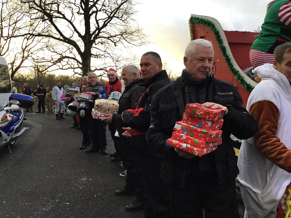 Santa bikers deliver festive joy