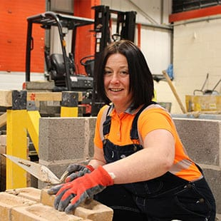Sally Pursues Lifelong Ambition to Study Bricklaying