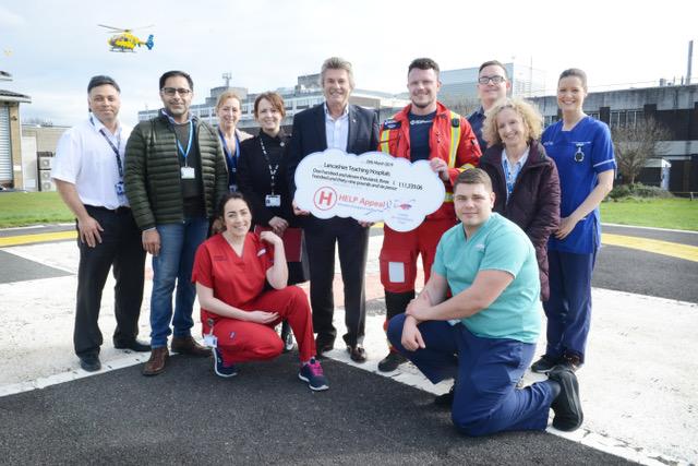 Royal Preston Hospital helipad is upgraded thanks to generous donation