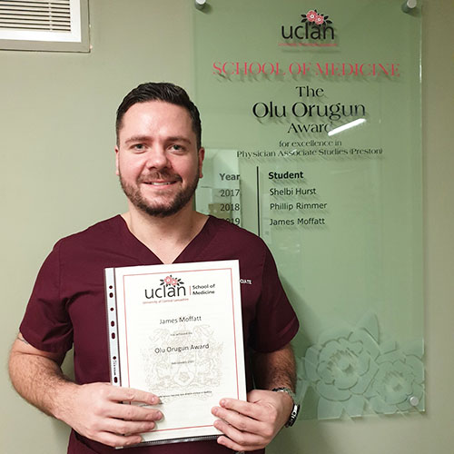 UCLan Physician Graduate Wins Award in Memory of Renowned Medic